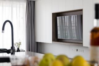 现代简约风格三居室电视墙装修效果图