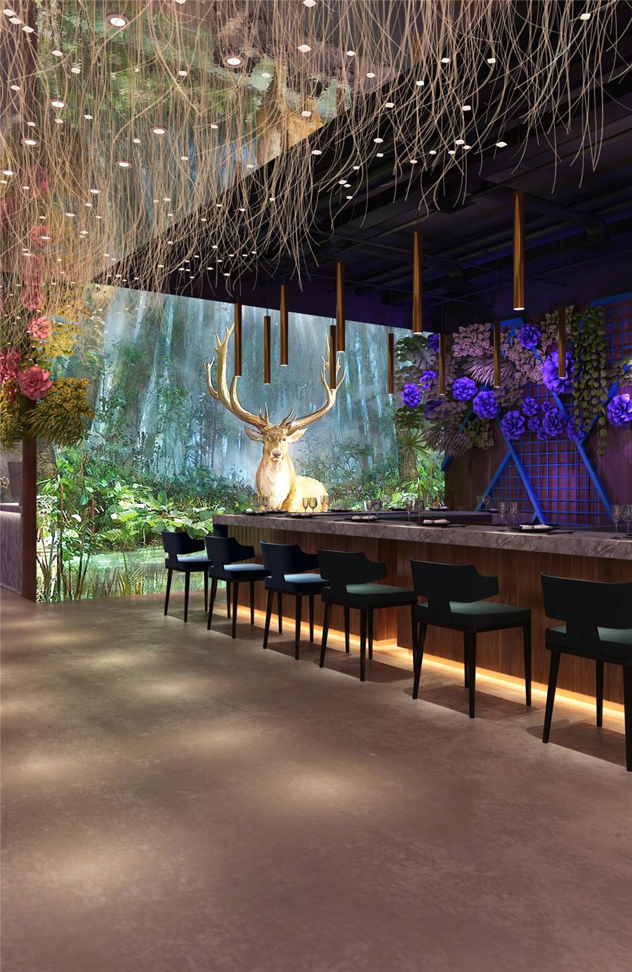 150平米餐厅装修效果图