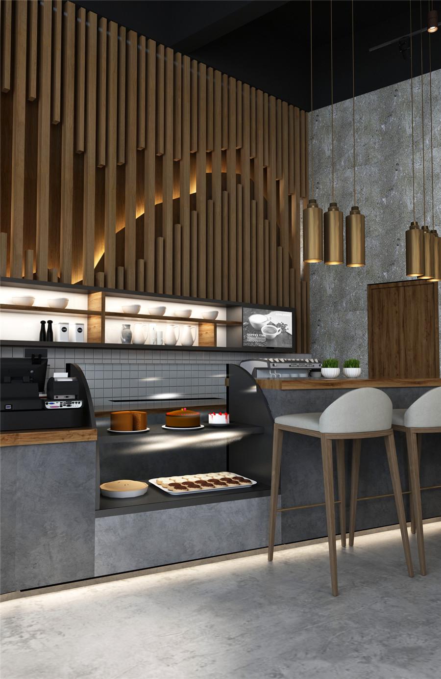 工业风格咖啡厅装修效果图