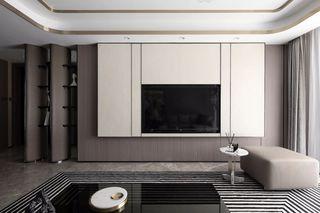 大户型现代轻奢风电视背景墙装修效果图