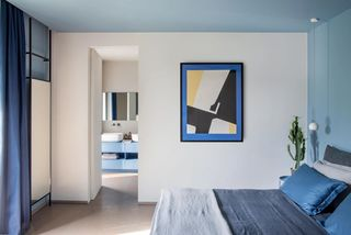 现代混搭别墅卧室装修效果图