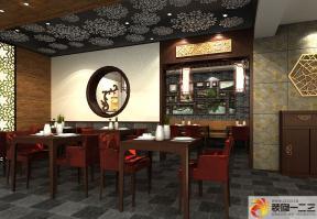 中式饭店实木家具设计图片