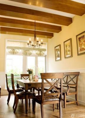 美式乡村风格小户型餐厅装修实景图