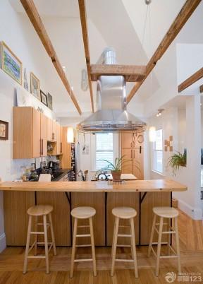 一室一厅一厨一卫木质吧台装修效果图