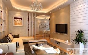 家装现代风格暗花壁纸装修效果图