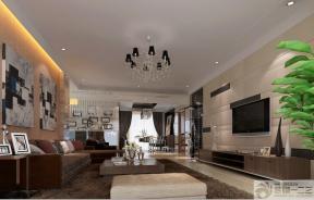 家装现代风格沙发背景墙装饰画设计图