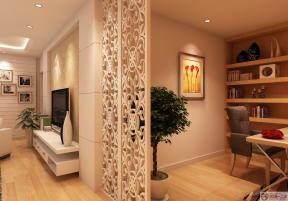 家装现代风格镂空雕花隔断设计效果图
