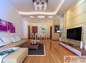现代客厅石膏板吊顶设计图