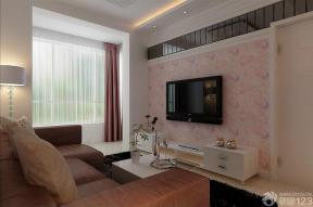 房屋客厅现代简约风格窗帘装修效果图