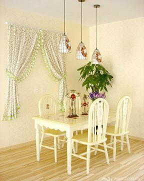田园风格三室两厅婚房设计实景图