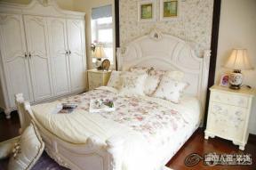 田园风格婚房卧室设计实景图