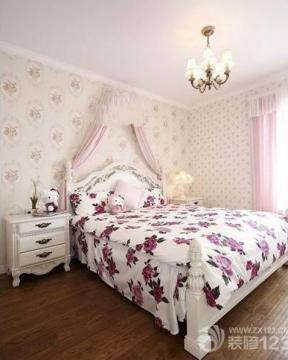 韩式田园风格女生卧室床幔图片