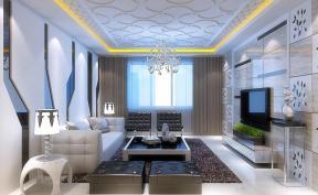 现代客厅瓷砖电视背景墙图片欣赏