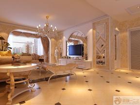 现代简欧风格豪华客厅装修效果图