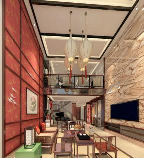 中式新古典风格联排别墅装修效果图