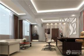 现代办公室布艺窗帘效果图