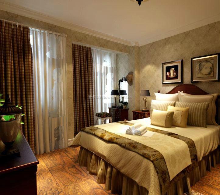 欧式风格卧室软床装修效果图