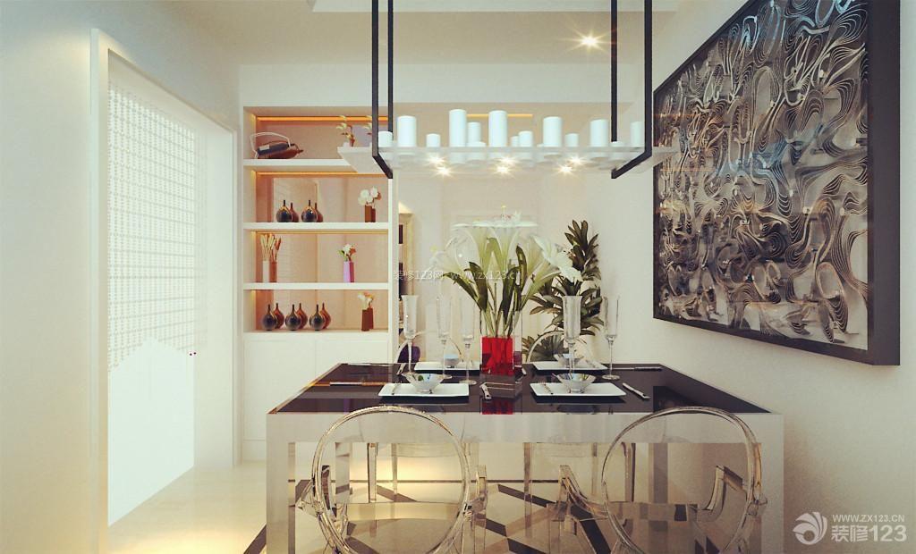 现代设计风格餐厅装饰画装修效果图