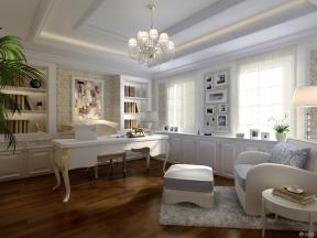 欧式风格书房简约书桌装修效果图