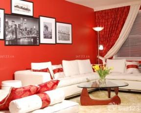 现代家装黑白装饰画沙发背景墙效果图