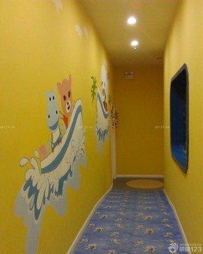 幼儿园过道主题墙布置效果图