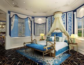 混搭风格设计卧室古典床装修效果图