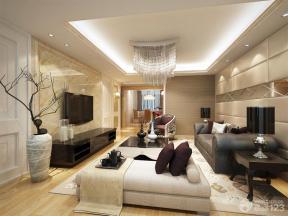 现代简约风格客厅沙发凳装修效果图