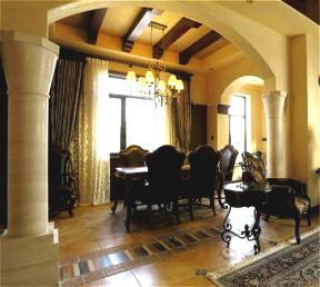 古典欧式餐厅拱形门洞装修效果图