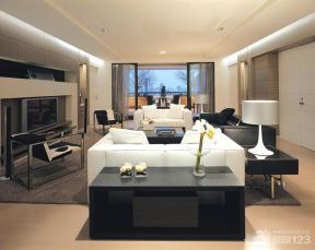 简约风格客厅装饰柜装修效果图