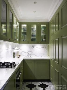 厨房绿色橱柜装修设计效果图