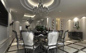 现代混搭风格餐厅餐桌椅子装修效果图