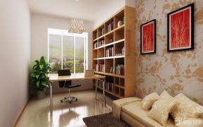 现代书房简约书桌装修效果图