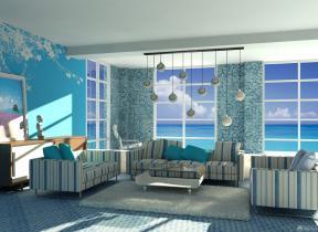 120平米家居客厅马赛克瓷砖设计图片