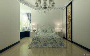 欧式风格卧室田园风格床装修效果图