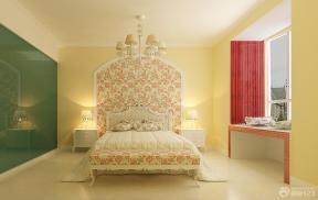 田园风格卧室床头背景墙装修效果图