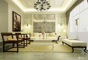 欧式风格客厅沙发背景墙装修效果图