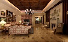 古典欧式客厅组合沙发装修效果图