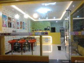 现代温馨40平奶茶店装修实景图