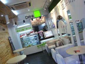 最新日式风格奶茶店装修实景图