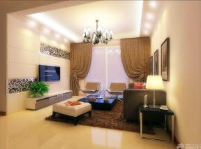 现代简约风格客厅背景墙造型案例