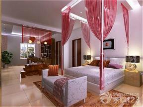中式别墅主卧室颜色搭配效果图