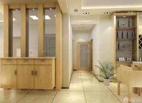 现代风格家装实木鞋柜设计效果图