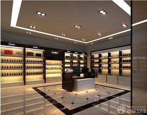 简欧式展厅空间设计大理石地砖装修图