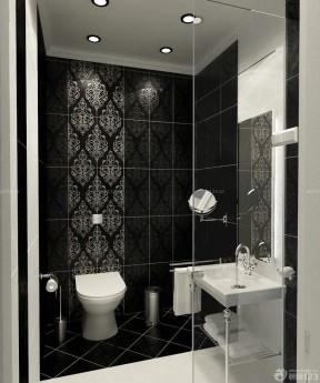 紧凑小卫生间玻璃门装修实景图