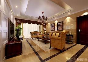 欧式新古典风格客厅沙发背景墙图片