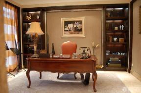 欧式新古典风格联排别墅书房设计图片