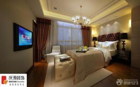 现代欧式风格卧室纱帘效果图