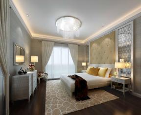 简约卧室床头背景墙图片欣赏