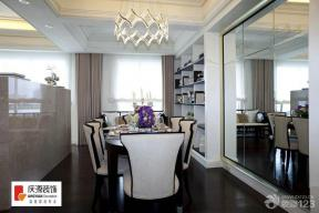 现代风格餐厅卡其色窗帘图片