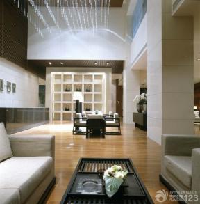 新中式风格休闲区布置浅褐色木地板图片